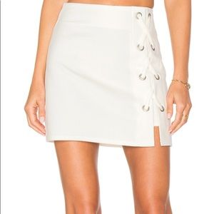 Dresses & Skirts - By the way white lace up skirt